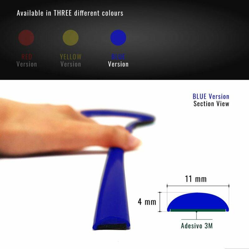 profilo adesivo peugeot 308 sezione blu