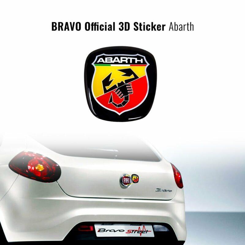 Adesivo Abarth 3D Ricambio Logo per Fiat Bravo