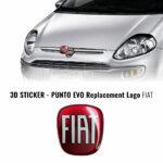 3D Sticker ricambio logo Fiat Punto Evo anteriore