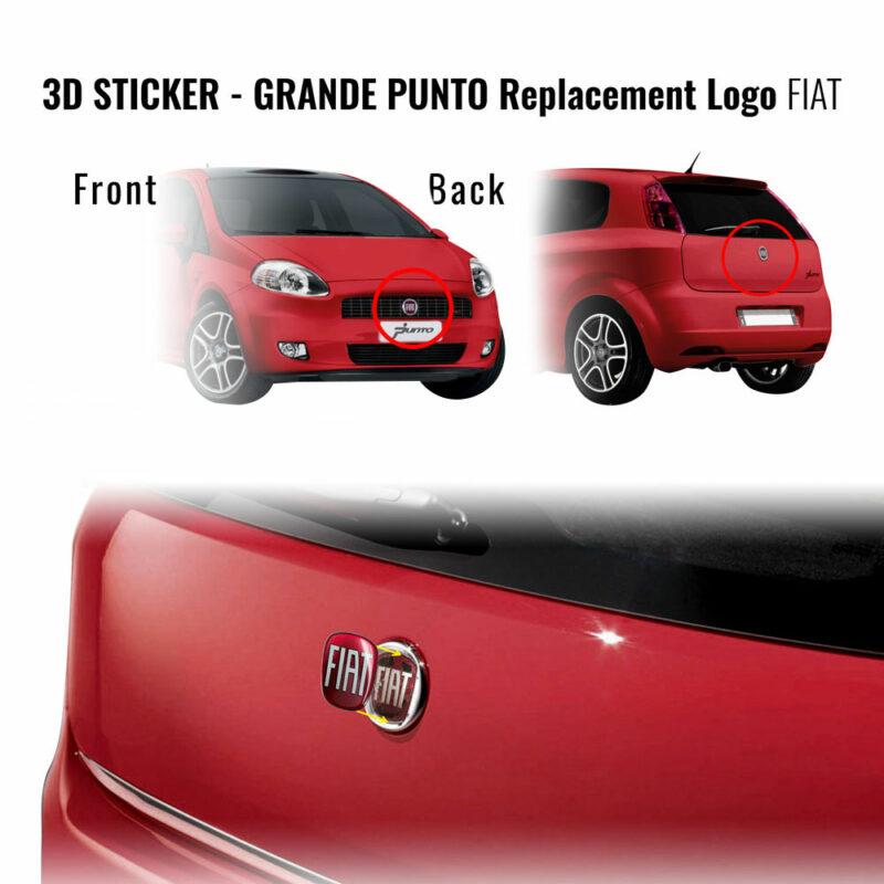 3D sticker ricambio logo Fiat Grande Punto