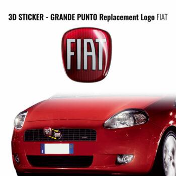 Adesivo sticker ricambio logo Fiat grande punto anteriore