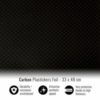Pellicola adesiva per plastiche carbonio 33 x 48