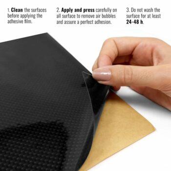 Pellicola adesiva per plastiche carbonio istruzioni di montaggio