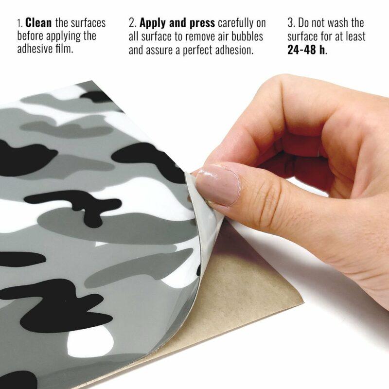 Pellicola adesiva per plastiche mimetic istruzioni