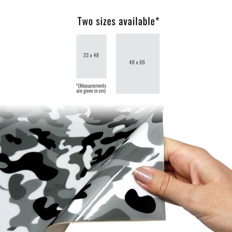 Pellicola adesiva per plastiche mimetic dimensioni