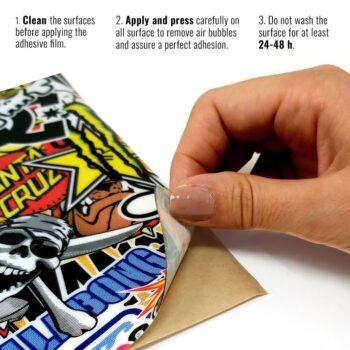 Pellicola adesiva per plastiche sticker bomb istruzioni