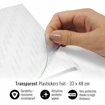 Pellicola adesiva per plastiche trasparente 33 x 48