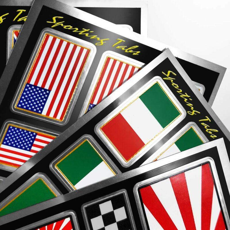 Set di adesivi bandiera racing per auto