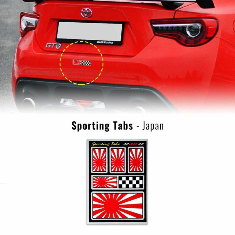 Set di adesivi bandiera Giappone racing per auto