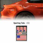 Set di adesivi bandiera USA racing per auto