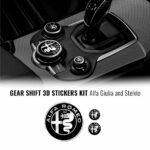 Kit 3 loghi adesivi Alfa Romeo per interno Giulia e Stelvio