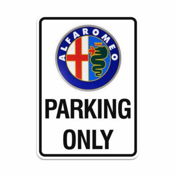 cartello parking only alfa romeo anni 80