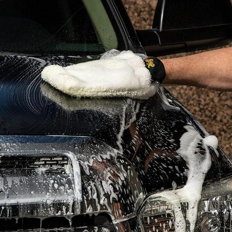 Ultimate wash mitt guanto per lavaggio, utilizzo