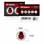 3D-Stickers-Coccinella-12mm-14310-B