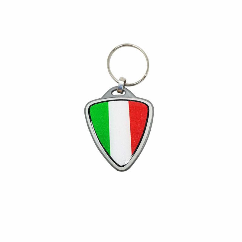 Portachiavi per Moto Italia Scudetto argento