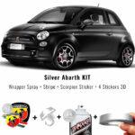 kit-abarth-argento-vernice-cerchi-stripe-adesivo-scorpione-3d-stickers-a