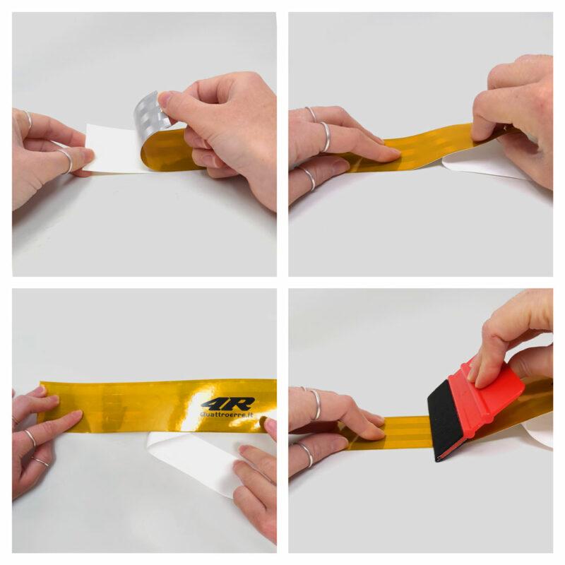 nastro rifrangente omologato conspicuity 50 mm x 1 m, istruzioni