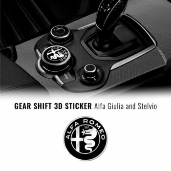 Adesivo Alfa Romeo logo cambio Alfa Giulia e Stelvio
