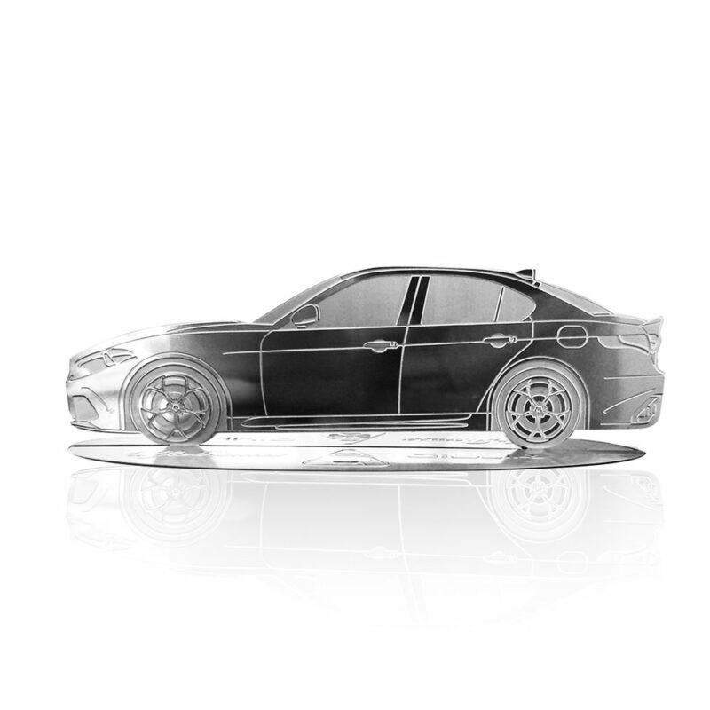 Modellino sagoma incisa in acciaio, Alfa Giulia