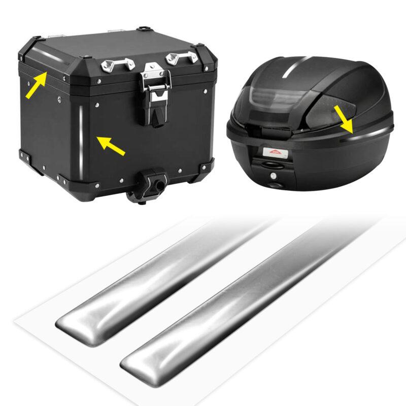 strisce adesive 3d cromate protettive per bauletti moto