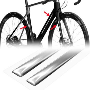 strisce adesive 3d cromate protettive per bicicletta