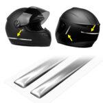 strisce adesive 3d cromate protettive per casco moto