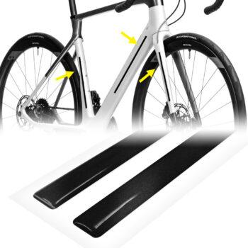 strisce adesive 3d rifrangenti per bicicletta, nere