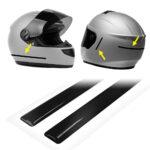 strisce adesive 3d rifrangenti per casco moto, nere