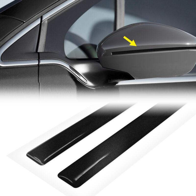 strisce adesive 3d rifrangenti per specchietti auto, nere
