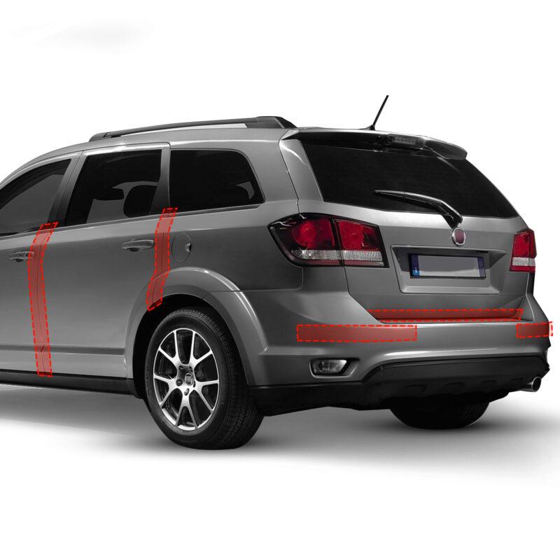 strisce adesive 3d trasparenti protettive per auto, posizionamenti possibili