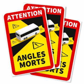 adesivi angoli morti per autobus francia, 3 pezzi