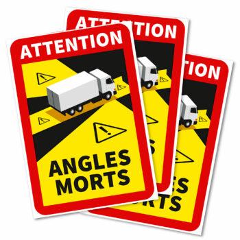 adesivi angoli morti per autocarri francia, 3 pezzi
