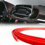 trim profiles mini profilo a incastro per interni auto, rosso