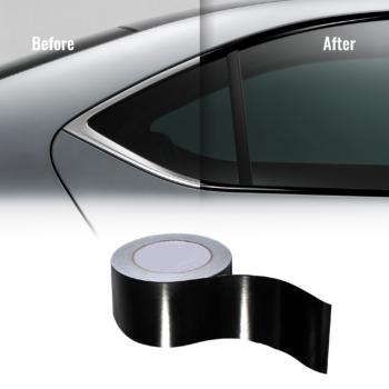 black cover pellicola per wrapping parti cromate auto