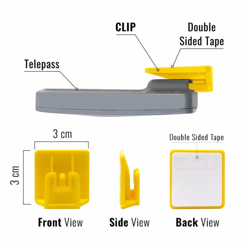 clip per nuovo telepass 2019 dimensioni